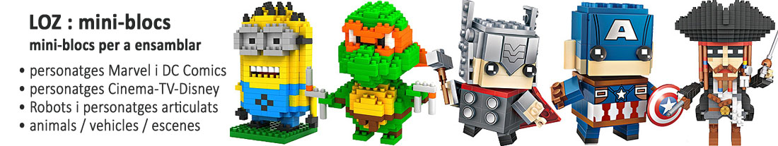 LOZ : Mini blocs per a ensamblarLOZ : Mini bloques para ensamblar - Marvel, DC Comics, cinema i TV, Cartoon, Disney
