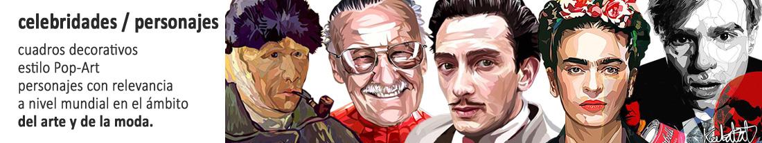 celebridades : personajes relevantes en arte y moda