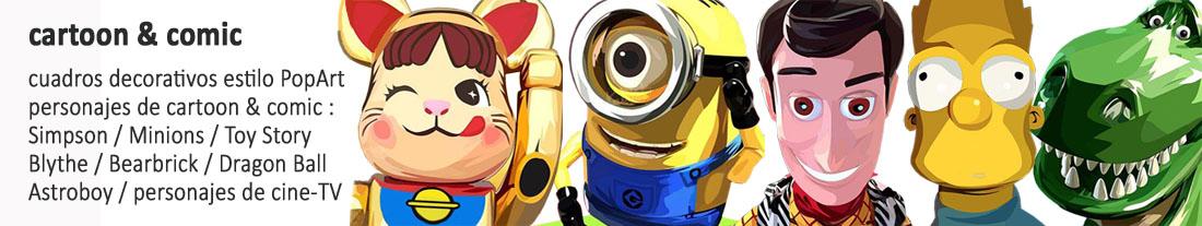 personajes de cartoon & comic
