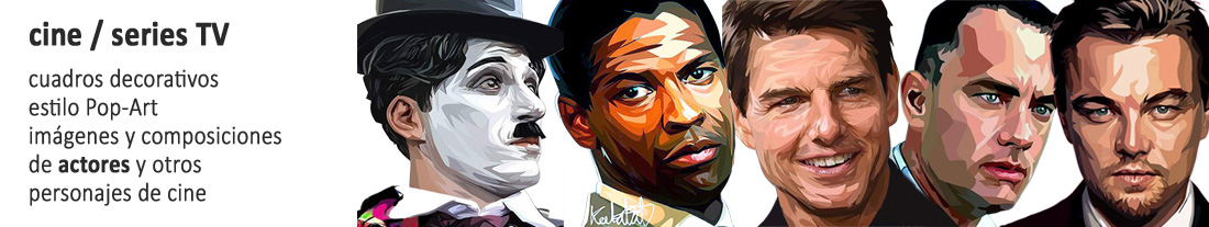 cuadros estilo pop-art : actores de cine