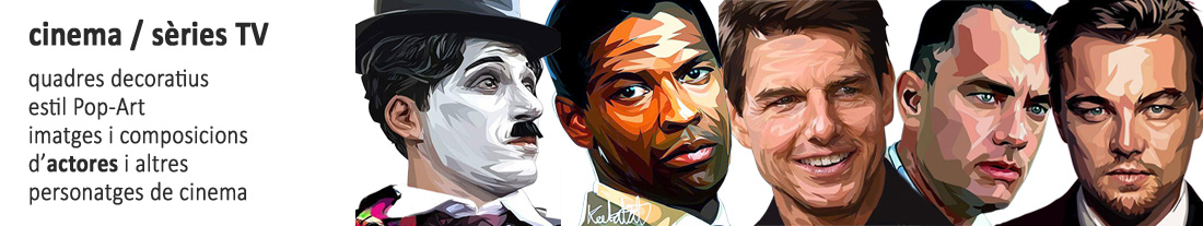 quadres estil pop-art : actors de cinema