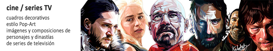 cuadros estilo pop-art : personajes series TV