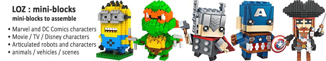 LOZ : mini-blocks to assemble - Marvel, DC Comics, film & TV, Cartoon, Disney