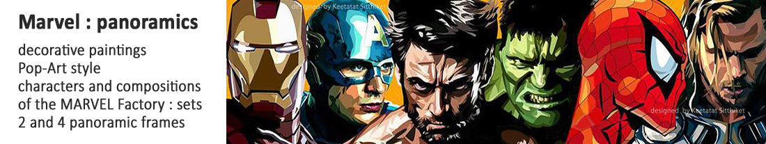 pictures Pop Art style - Marvel : panoramic compositions - to buy