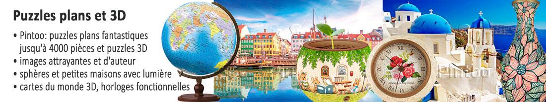 Pintoo: des puzzles 2D et 3D fantastiques - à acheter
