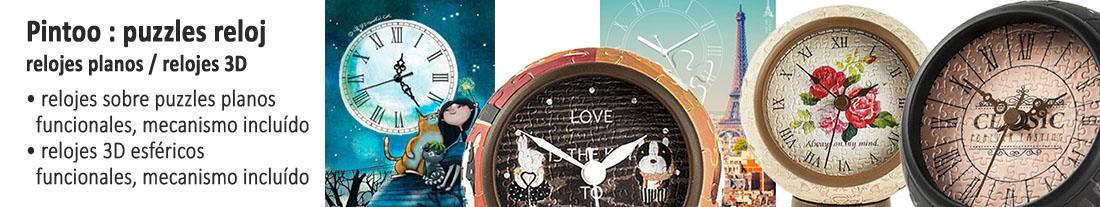 Pintoo : puzzles con reloj incorporado - planos y en 3D - para comprar