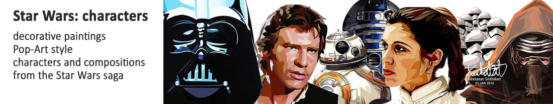 paintings style Pop Art - Star Wars - characters - to buy