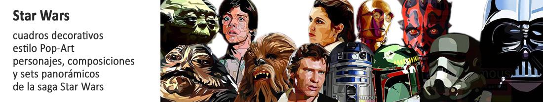 cuadros decorativos de personajes Star Wars para comprar
