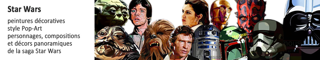 Star Wars - peintures décoratives pour acheter