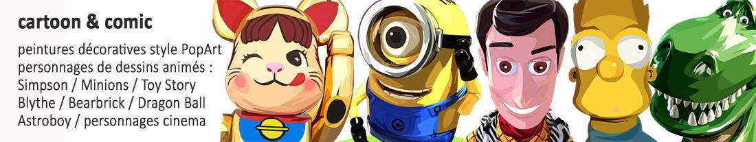 personnages de dessins animés