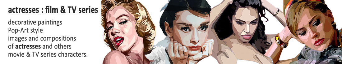 decorative pictures popart style : actresses of film and TV