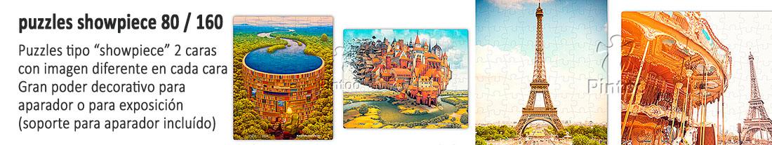 Pintoo : puzzles  showpiece  doble cara 80 y 160 piezas - para comprar