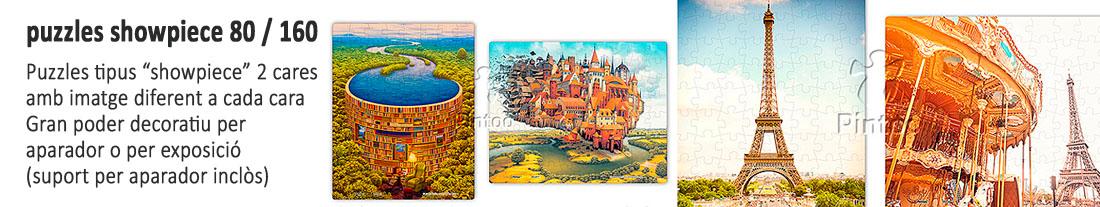 Pintoo : puzzles  showpiece  doble cara 80 i 160 peces - per comprar