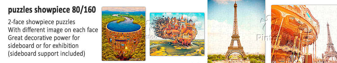 Pintoo: double-sided showpiece puzzles 80 and 160 pieces - to buy