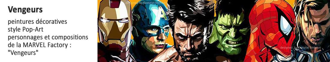 peintures style Pop Art : Marvel : Vengeurs - à acheter