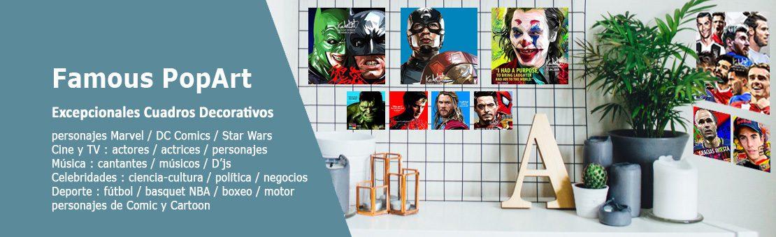 Famous Pop-Art : cuadros decorativos